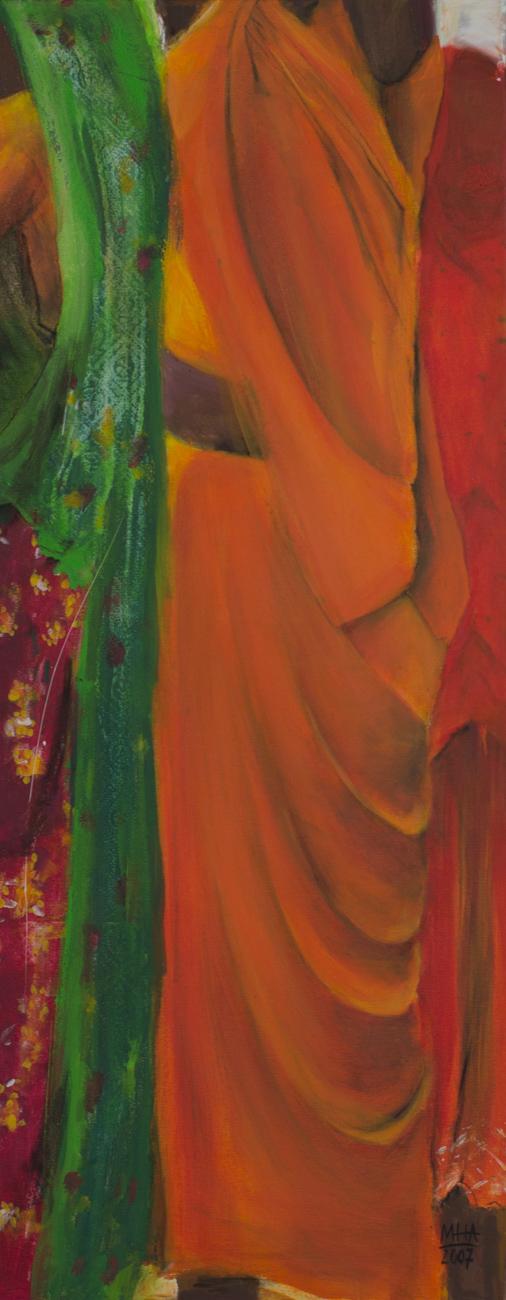 Sari 4 , 2007,Acryl auf Leinwand, 40x100 cm