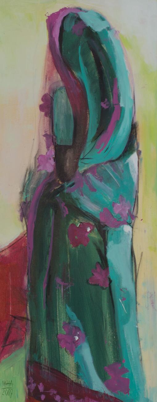Sari 7 , 2007,Acryl auf Leinwand, 40x100 cm