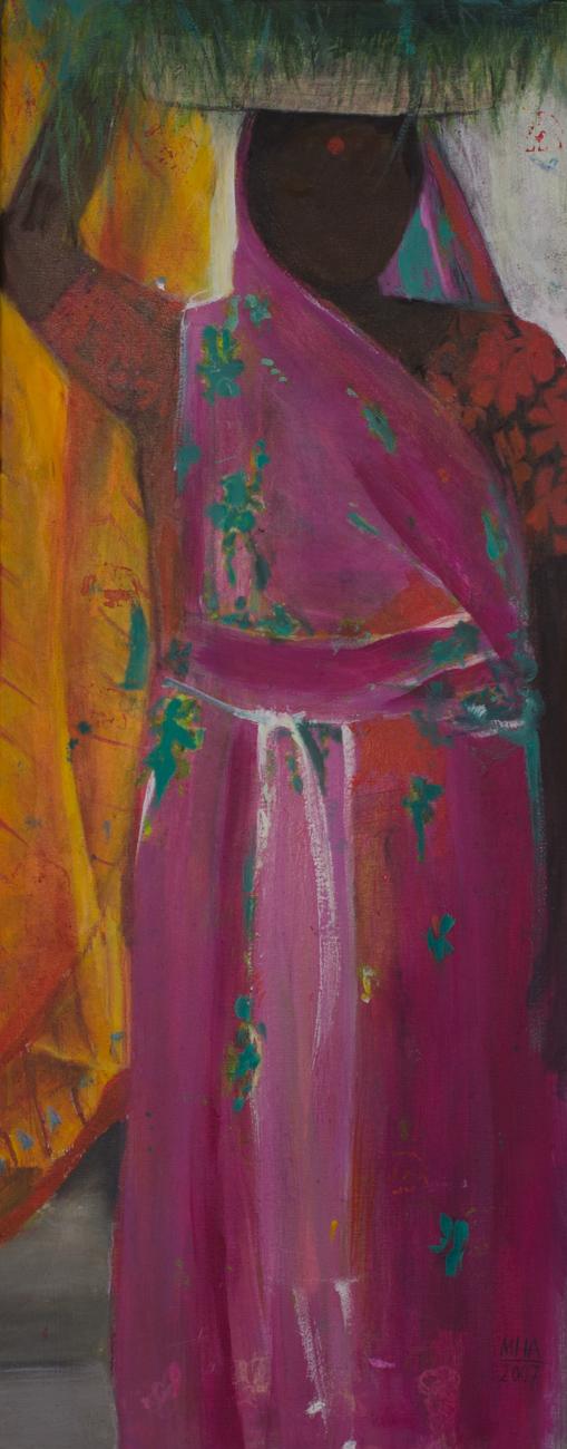 Sari 8 , 2007,Acryl auf Leinwand, 40x100 cm