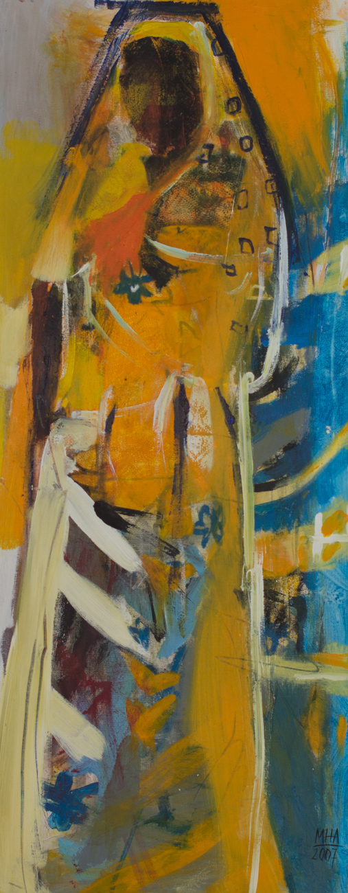 Sari 20 , 2007,Acryl auf Leinwand, 40x100 cm