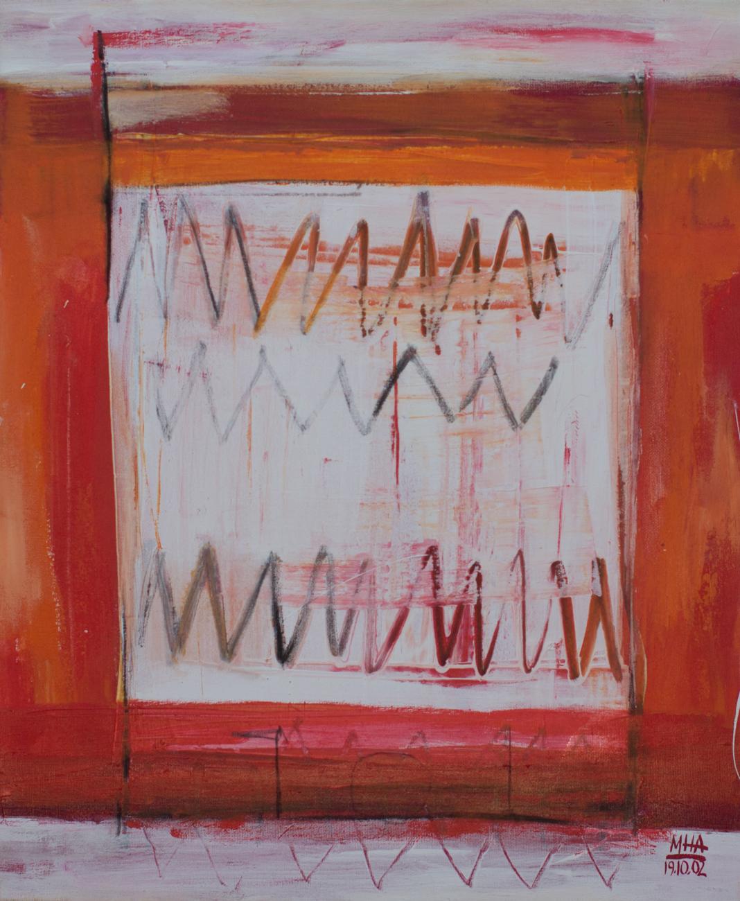 Tapiz 6 , 2002,Acryl auf Leinwand, 50x60 cm