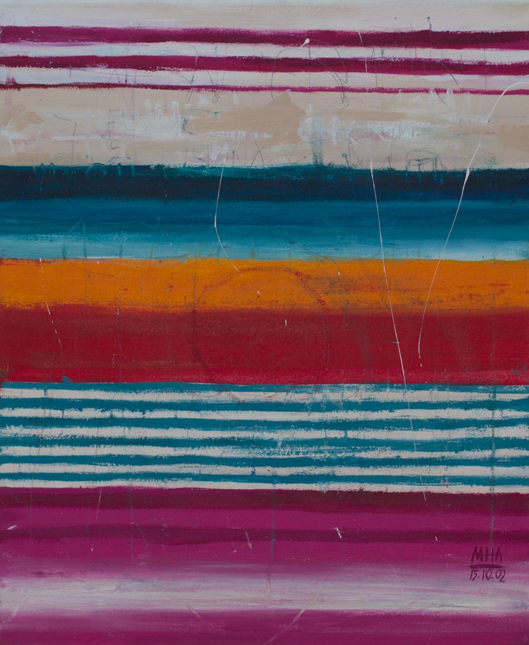 Tapiz 11 , 2002,Acryl auf Leinwand, 50x60 cm