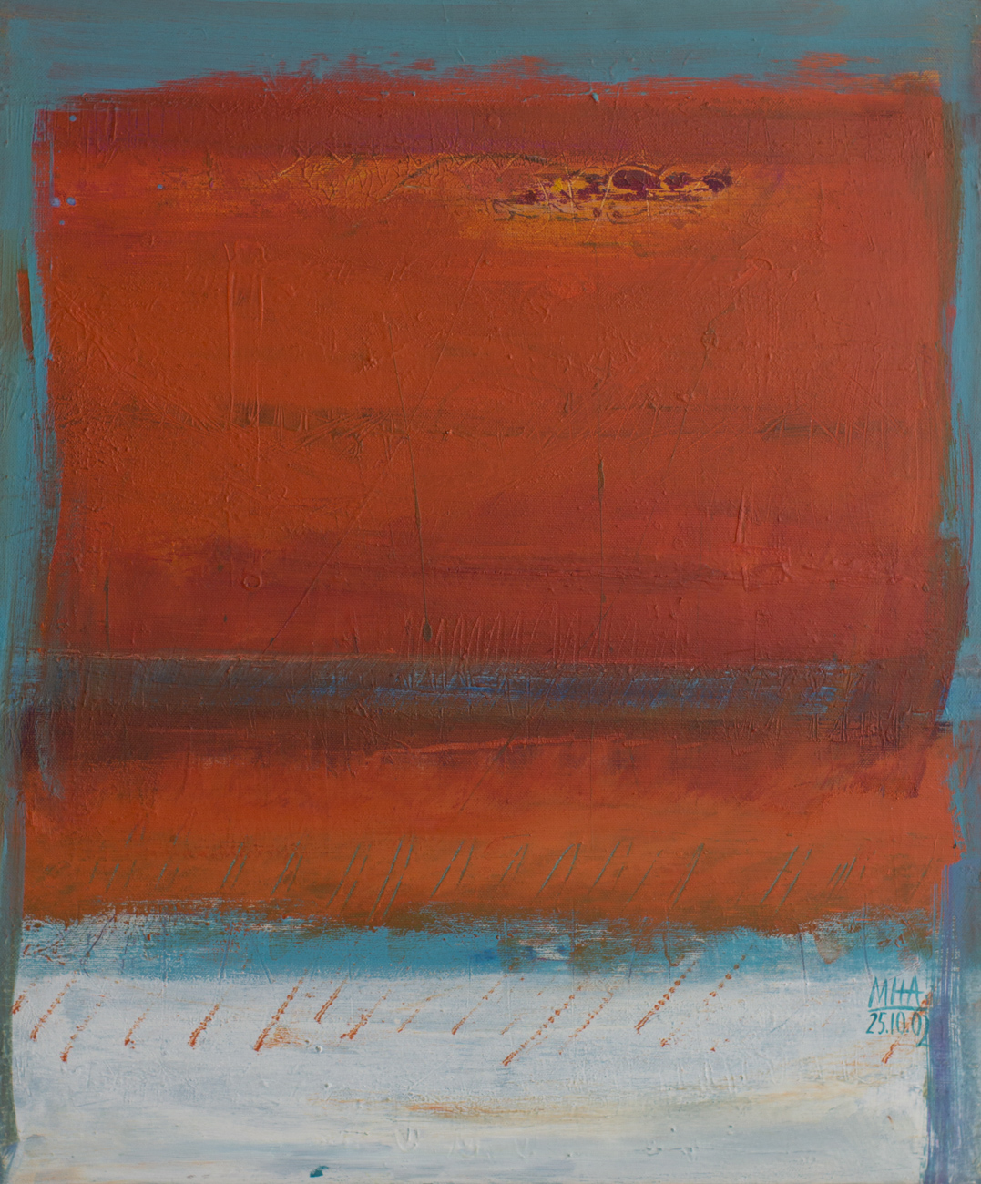 Tapiz 2 , 2002,Acryl auf Leinwand, 50x60 cm