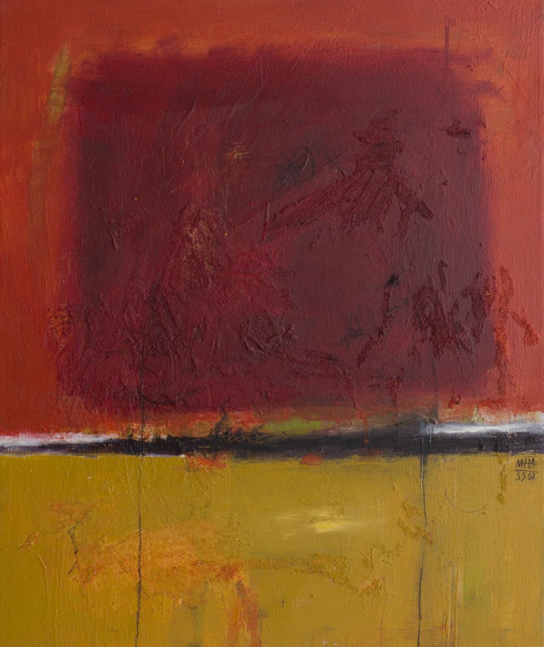 Tapiz 17 , 2002,Acryl auf Leinwand, 50x60 cm