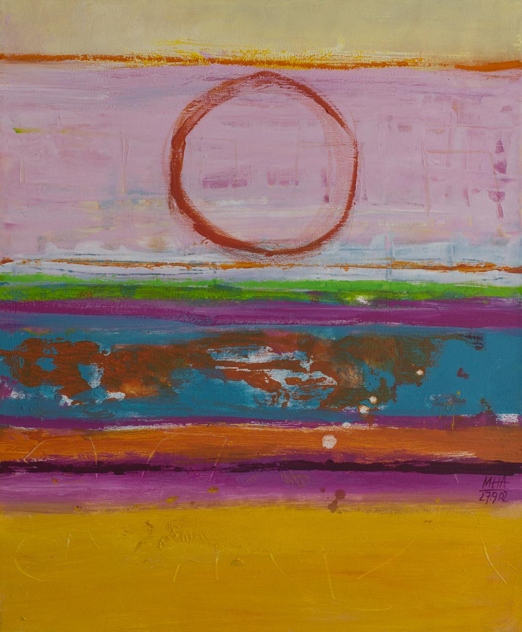 Tapiz 14 , 2002,Acryl auf Leinwand, 50x60 cm