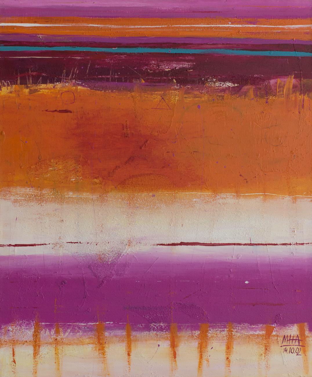 Tapiz 4 , 2002,Acryl auf Leinwand, 50x60 cm
