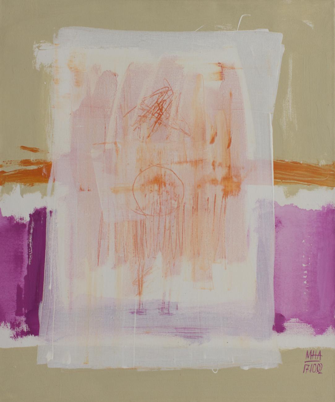 Tapiz 1 , 2002,Acryl auf Leinwand, 50x60 cm