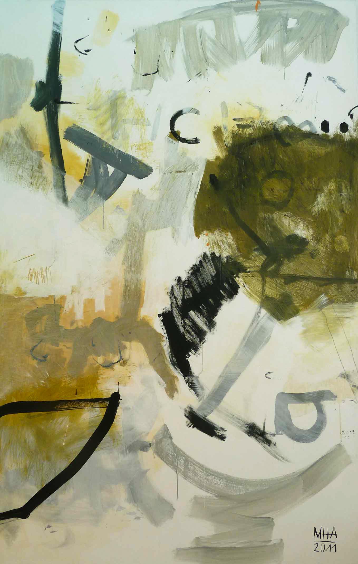 """""""es ist"""" , 2011,Acryl auf Leinwand, 130x200 cm"""