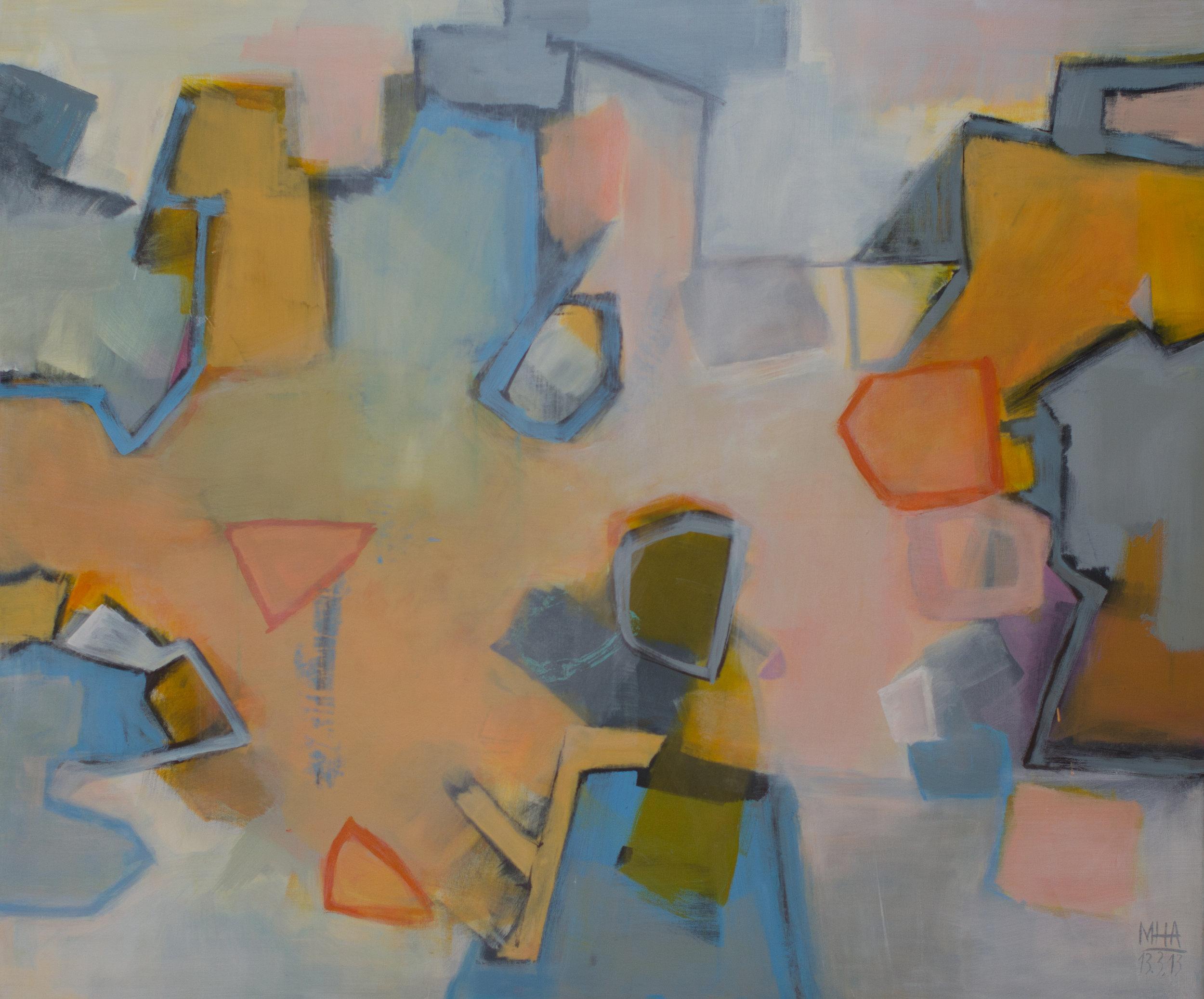 in Bewegung , 2013,Acryl auf Leinwand, 100x120 cm