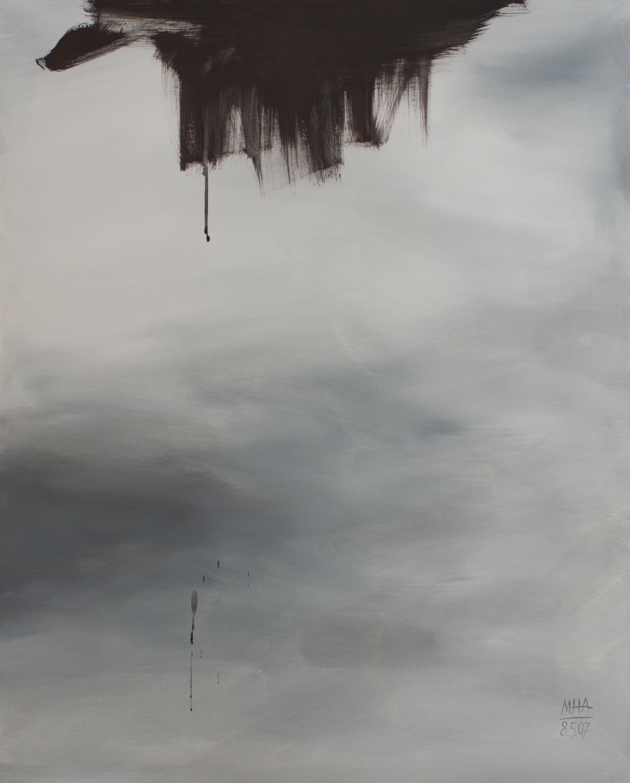 schwaru , 2007,Acryl auf Leinwand, 80x100 cm