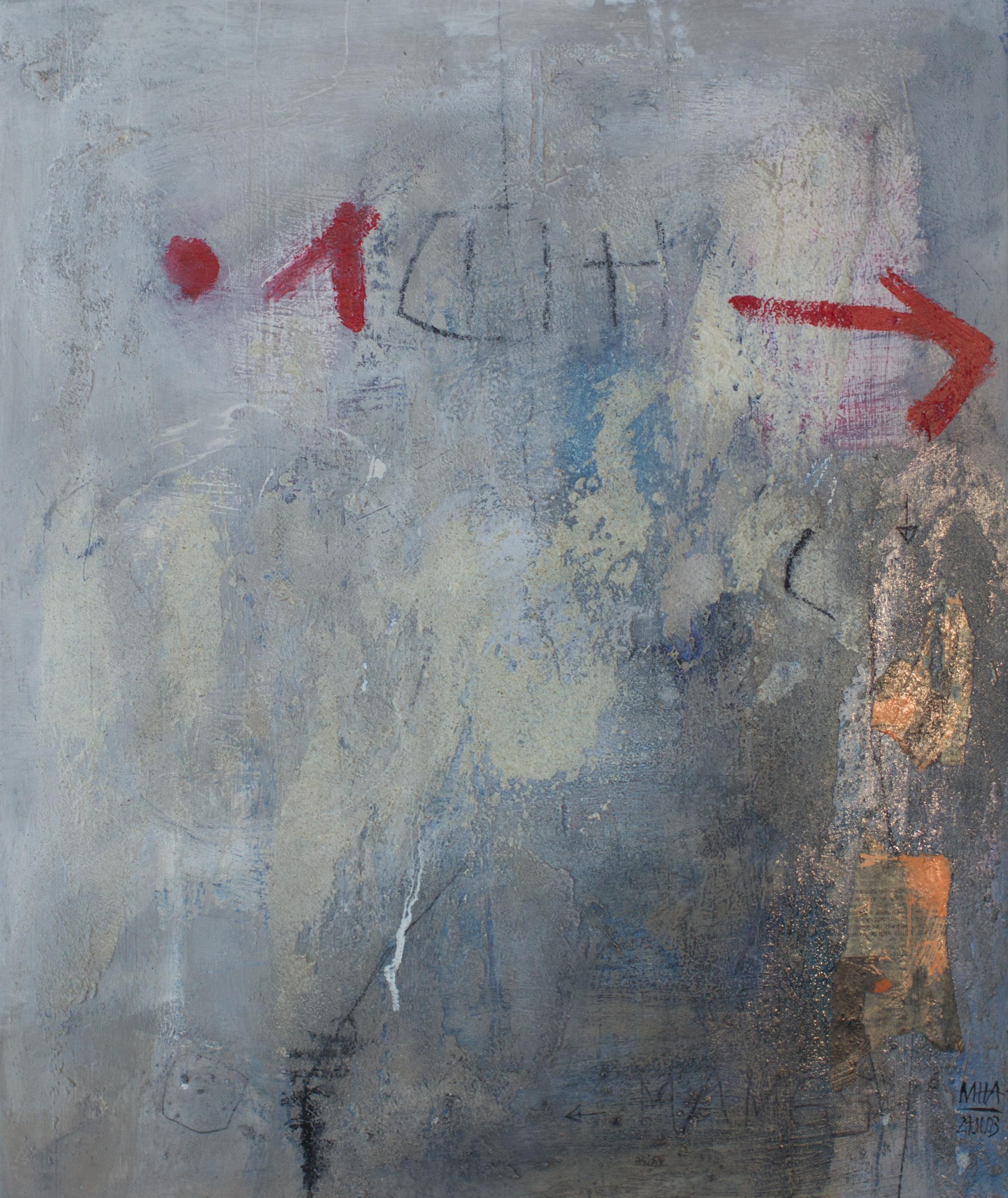 Wand A ,2003,Acryl auf Leinwand - Mischtechnik, 50x60 cm