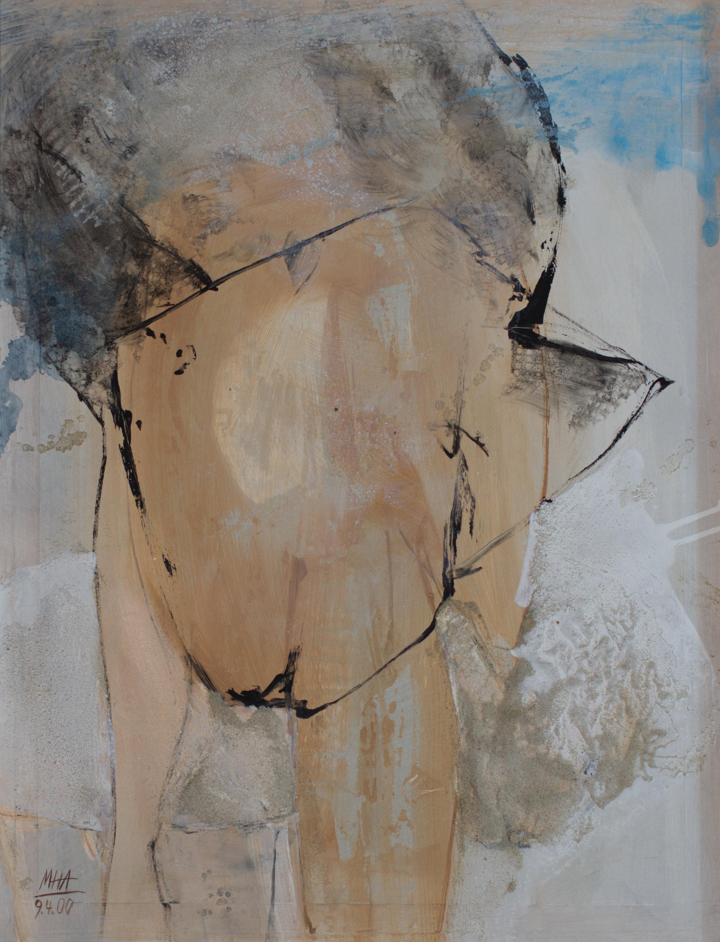 z.m.e Schaf , 2000,Acryl auf Papier - Mischtechnik, 53x69 cm
