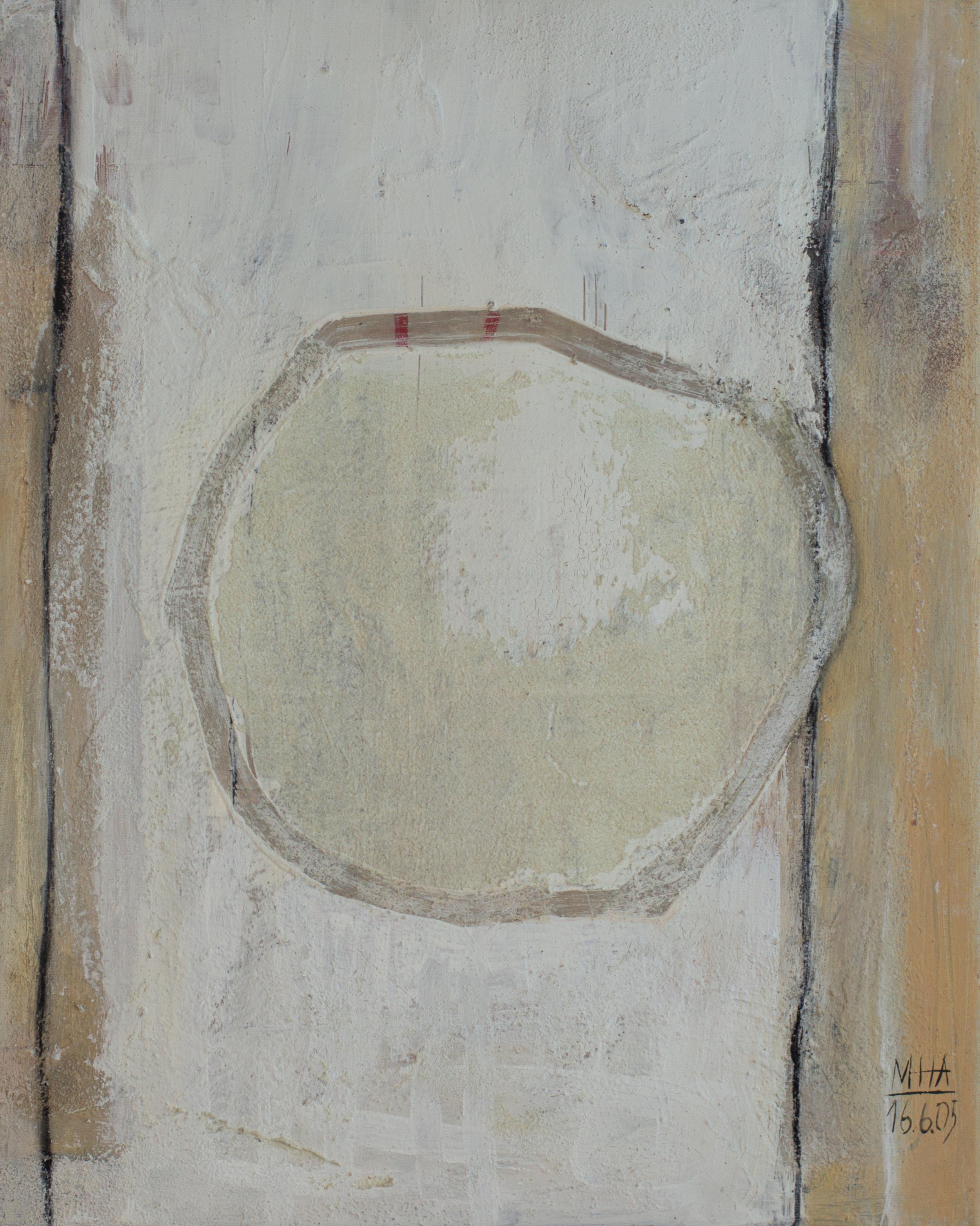 Kreis 16 , 2005,Acryl auf Leinwand - Mischtechnik, 100x120 cm