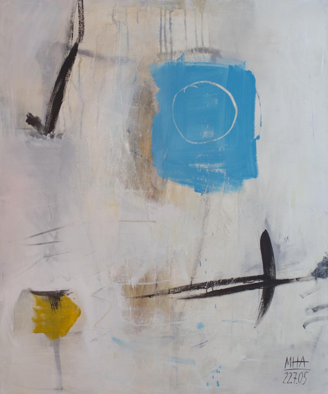Pflugschar , 2005,Acryl auf Leinwand - Mischtechnik, 100x120 cm