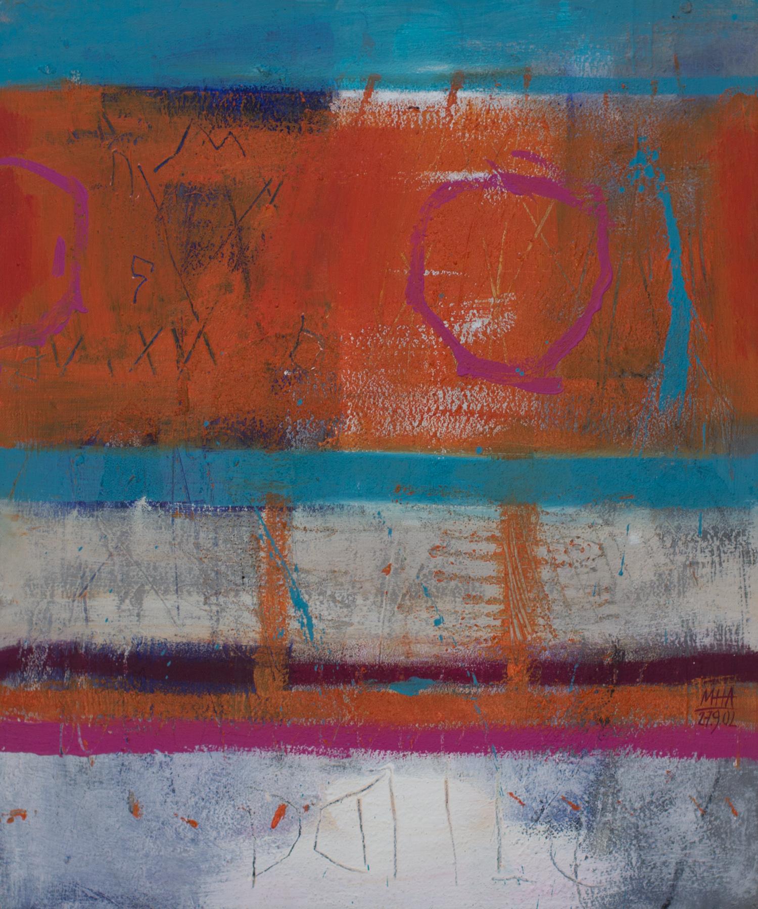 Tapiz 10 , 2002,Acryl auf Leinwand, 50x60 cm