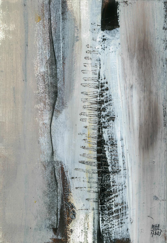 05  AUFRISS, 2003, Acryl auf Papier, 15x23,5 cm