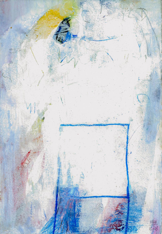 12   FREIHEIT, 2003, Acryl auf Papier, 15x23,5 cm