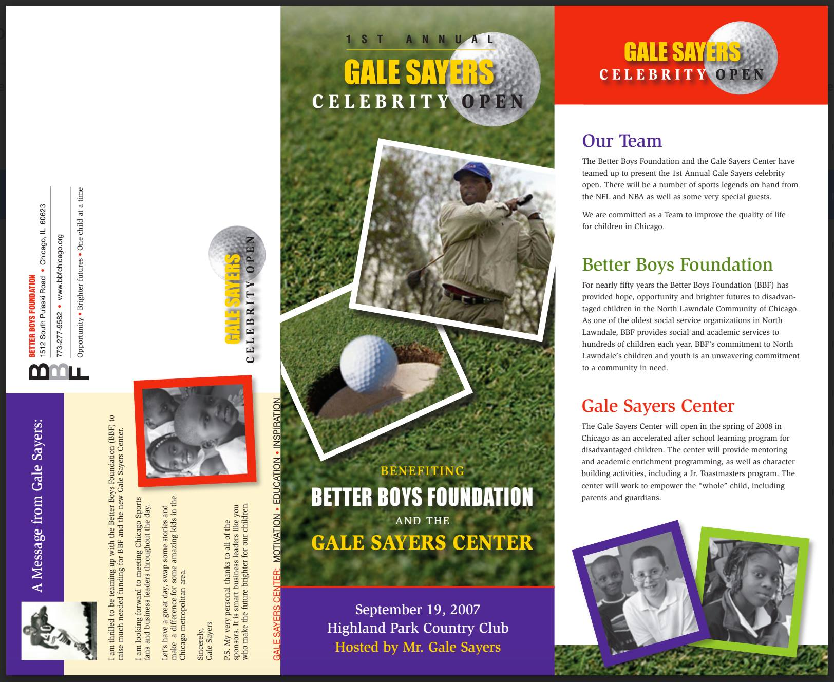 Gale Sayers Center | Celebrity Golf Open | Joanne Klee Marketing   Full Service Event Management