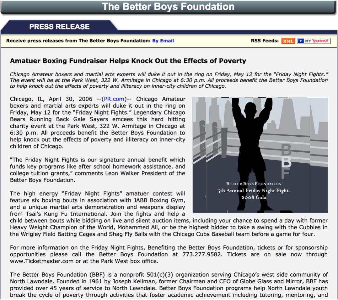 Press Release &Public Relations