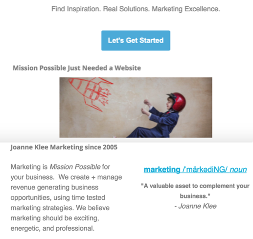 joanne-klee-marketing-Number 2: A Year in Review for our Chicago Business Marketing Successes in 2017 chicago-agency-email-annuocement-small-business-2017.png