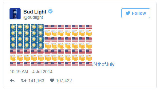 World Emoji Day the Cornerstone of Social Media Tools Budlight 4th of July Advertisement