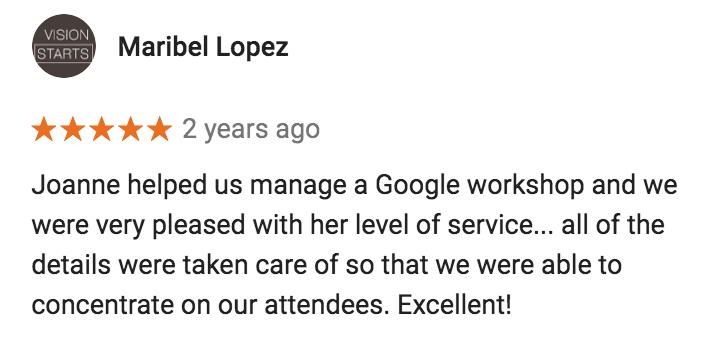 Google Workshop Event Management Review