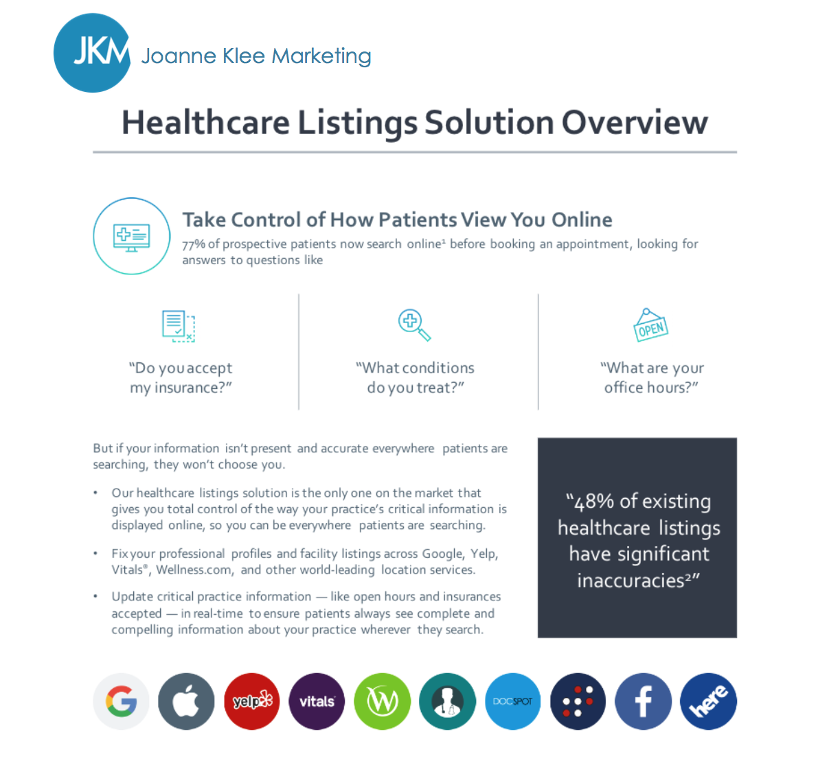 white paper healthcare solutions getting doctors found online