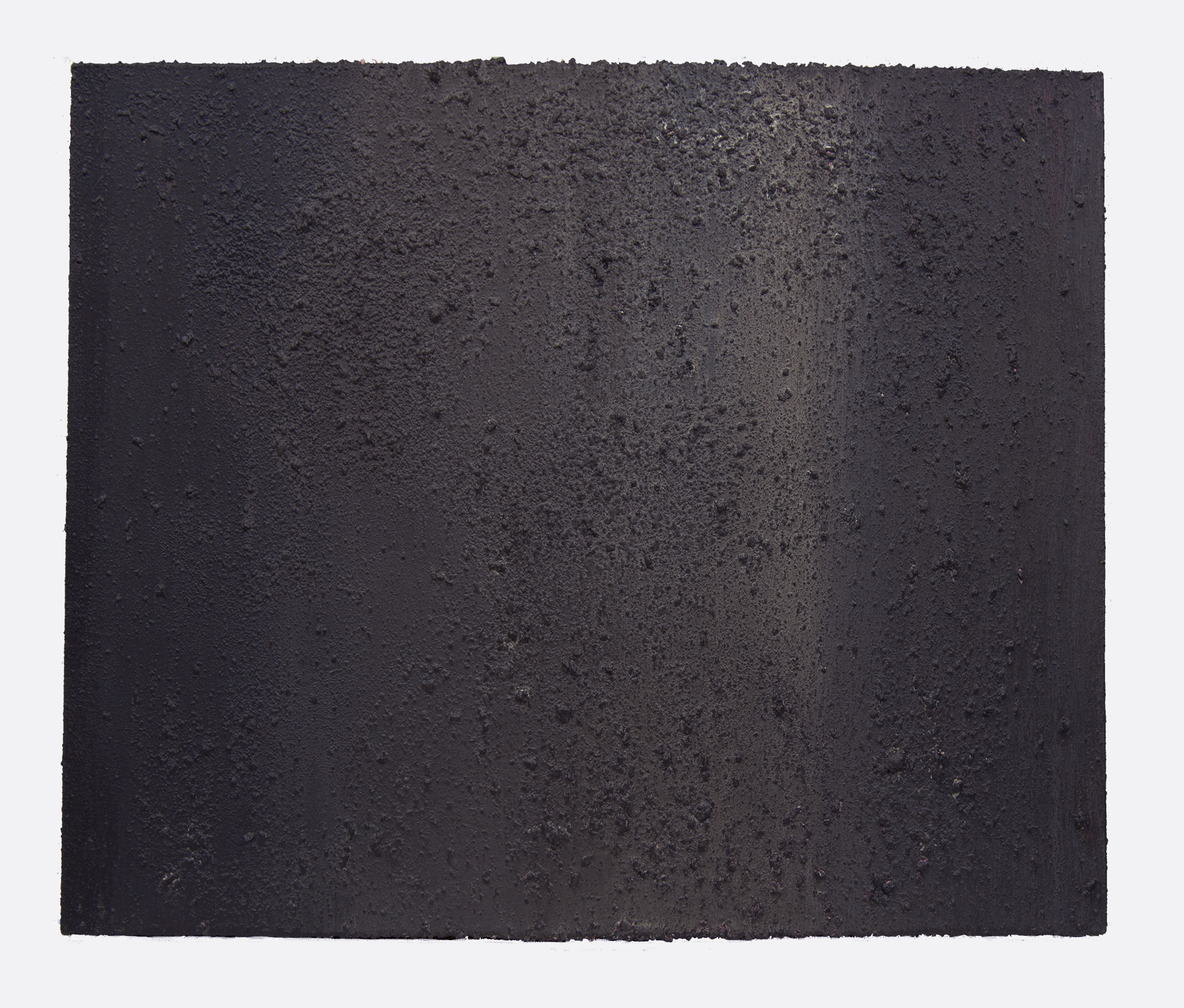 "January Slush  20"" X 30"" latex and chimney ash on canvas"
