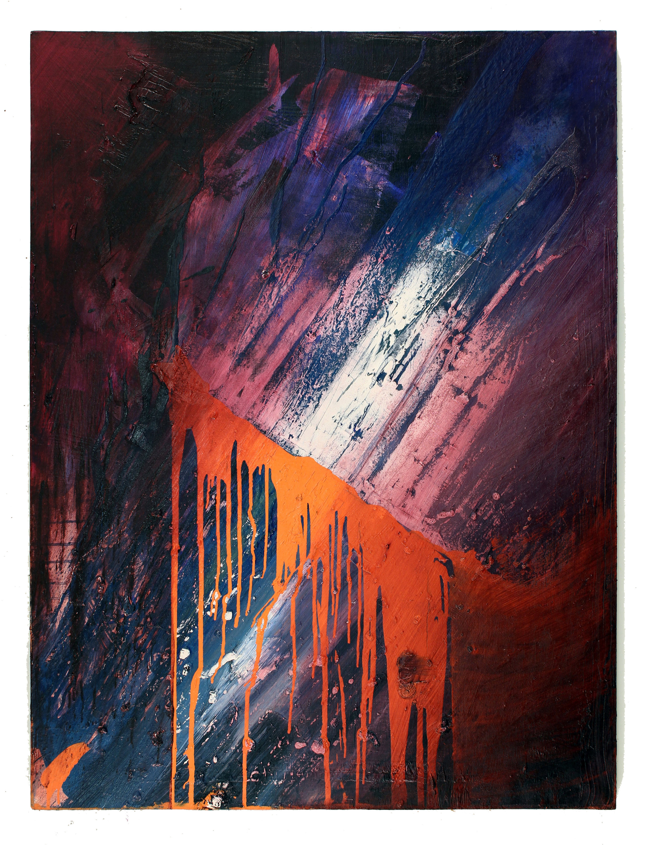 """Opposing Forces  48"""" x 36"""" oil on canvas"""