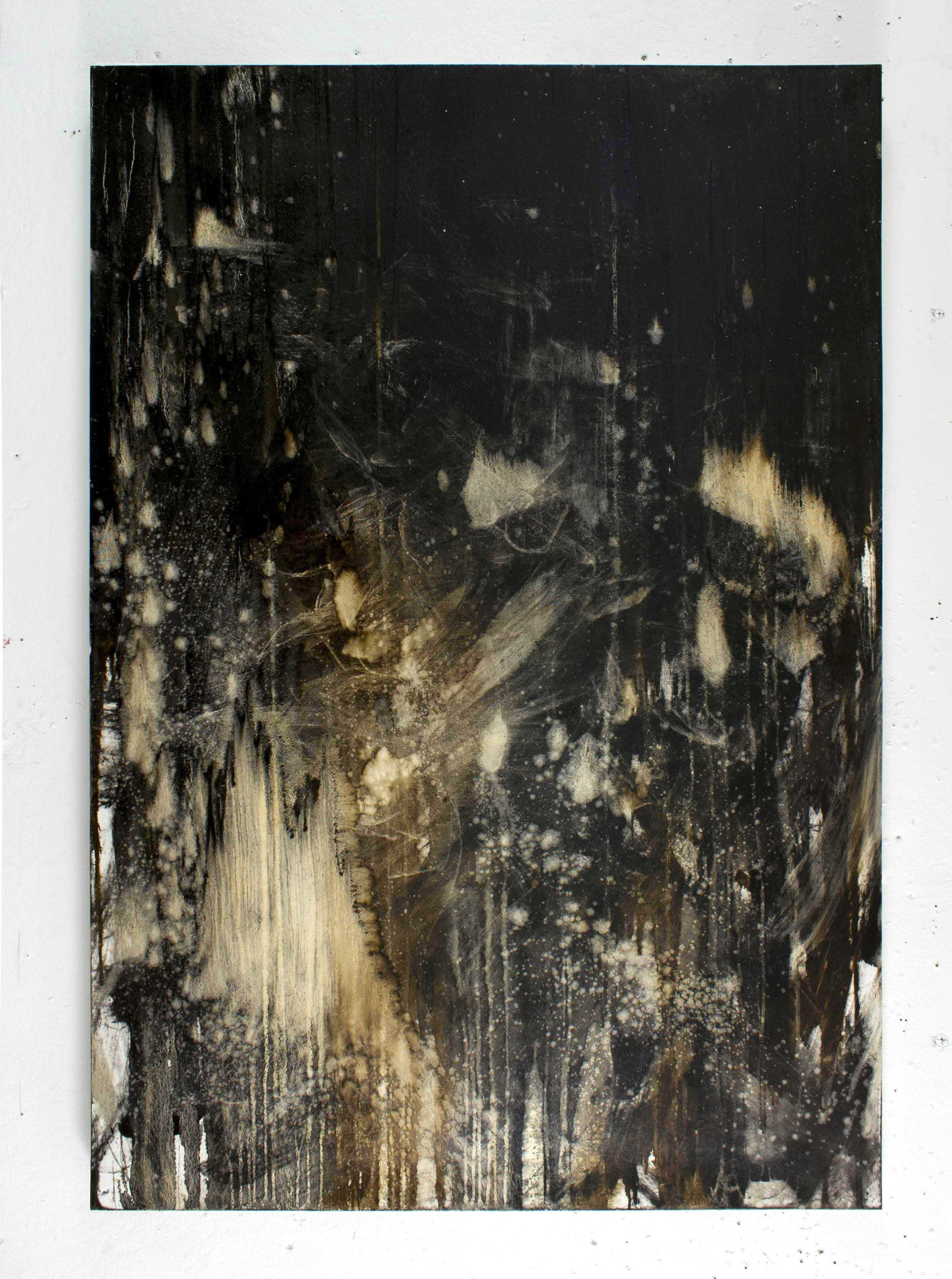 """Painting Beaten  72"""" x 48"""" oil on canvas"""