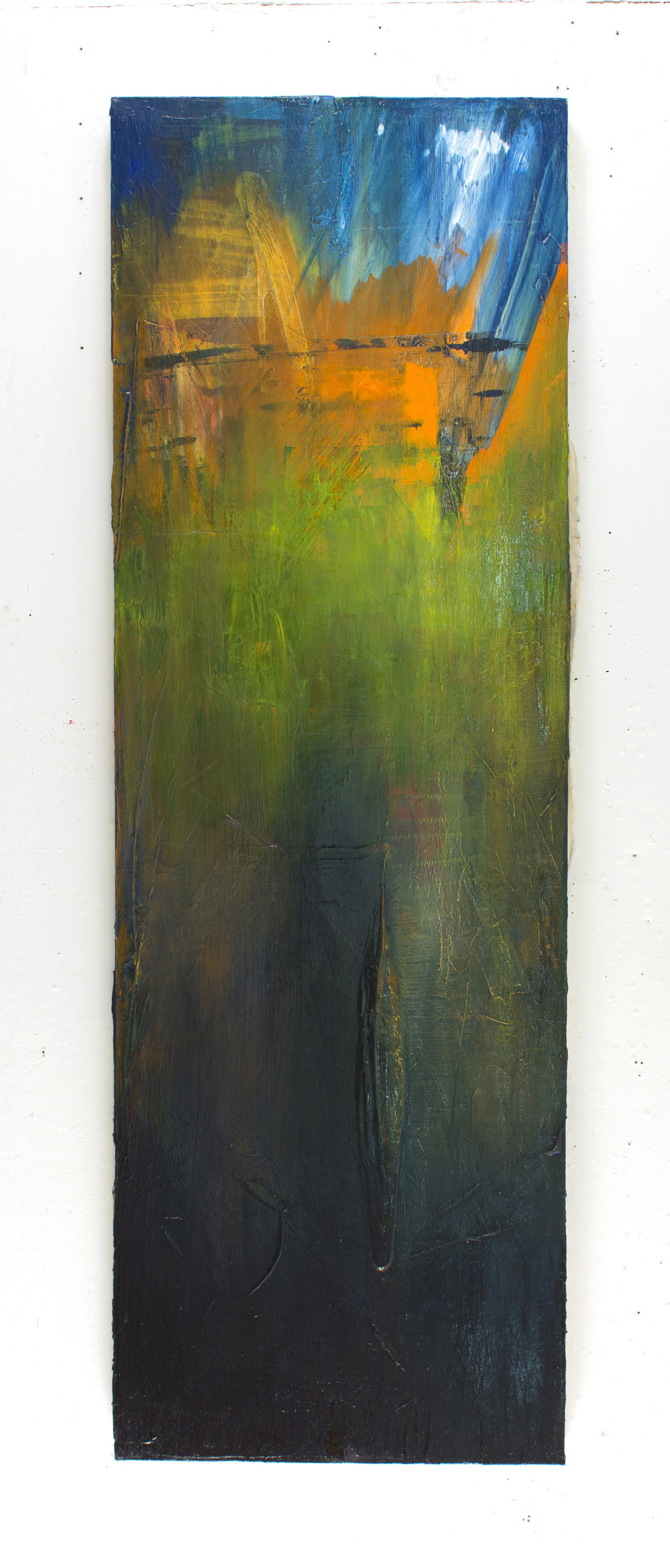 "Nuclear Bomb  72"" x 24"" oil on canvas"