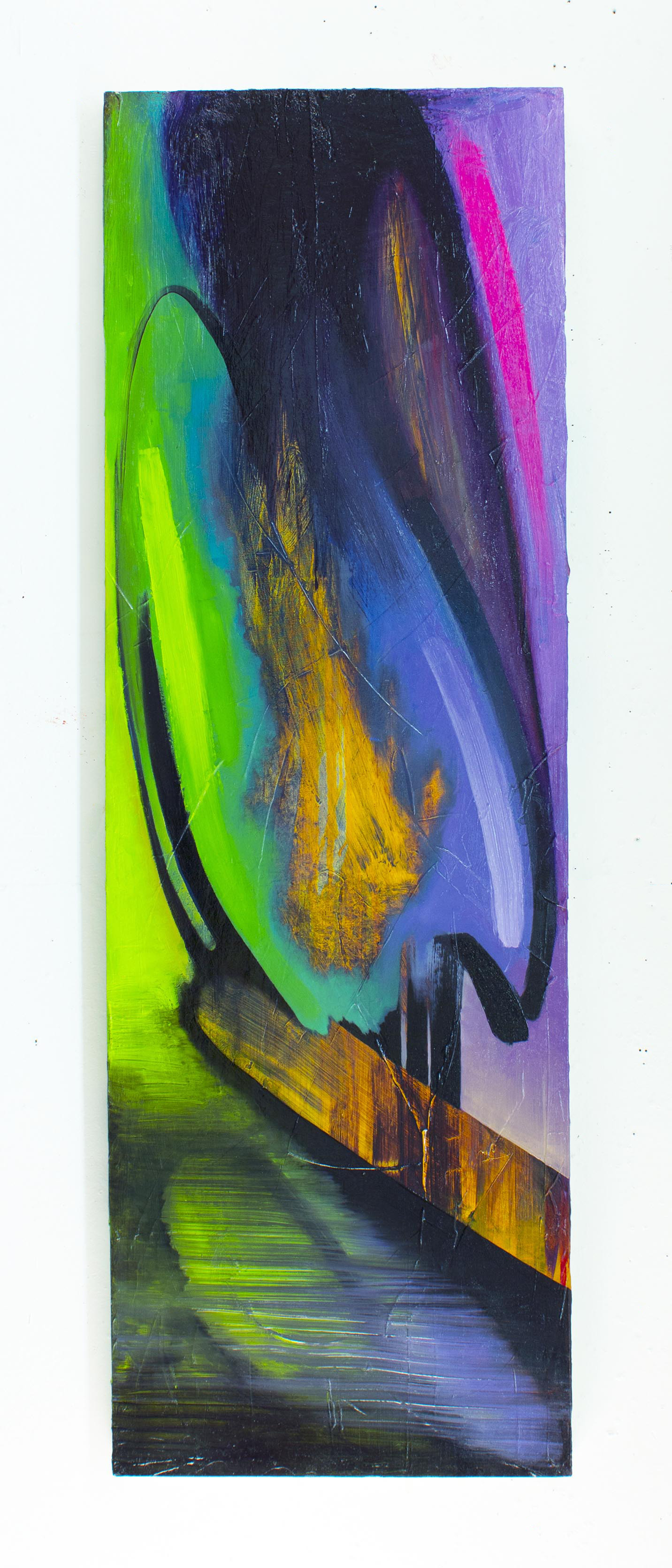 """Ode to Lisa Frank  72"""" x 24"""" oil on canvas"""