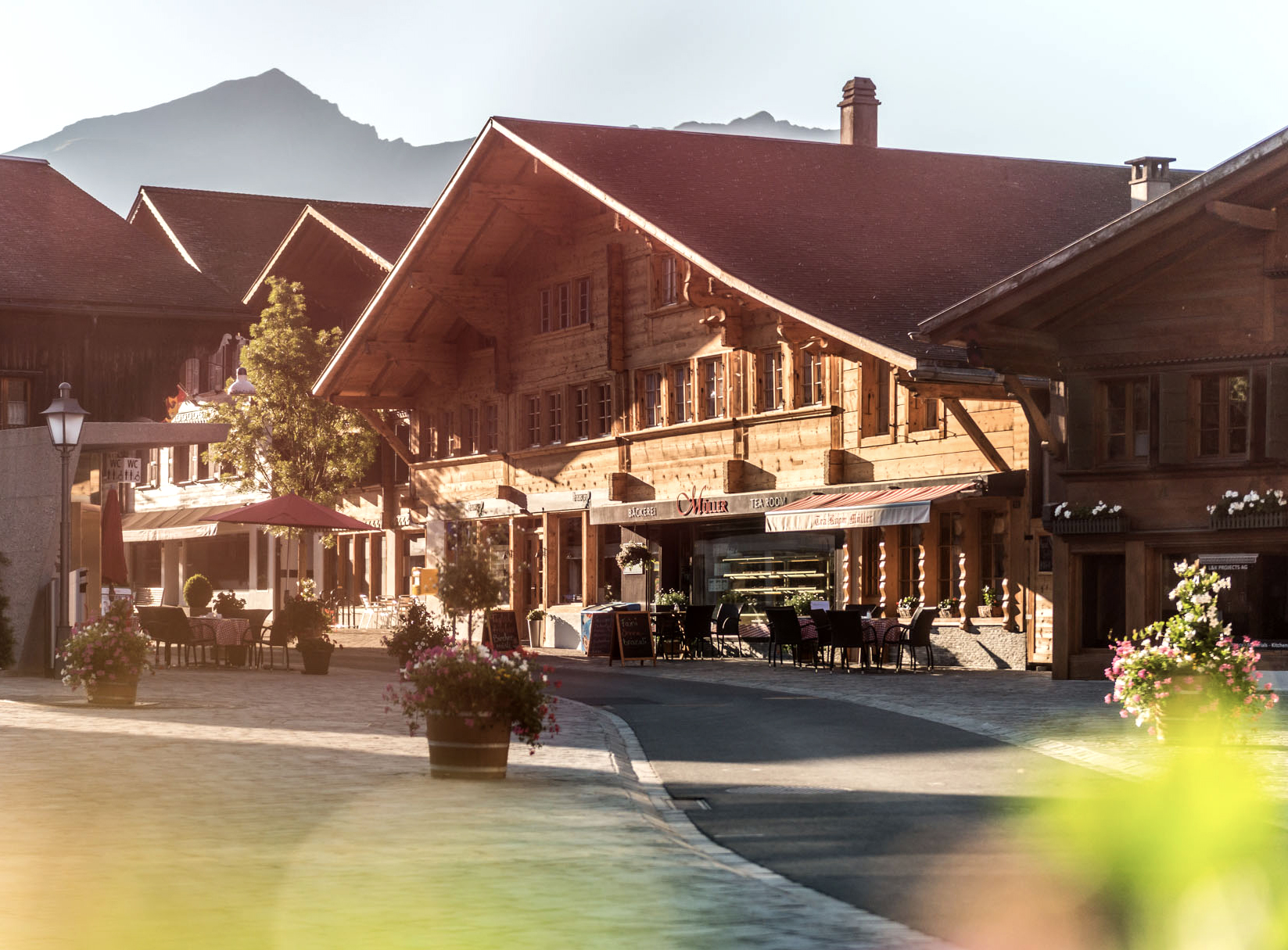 Traditional chalet in the centre of Saanen.