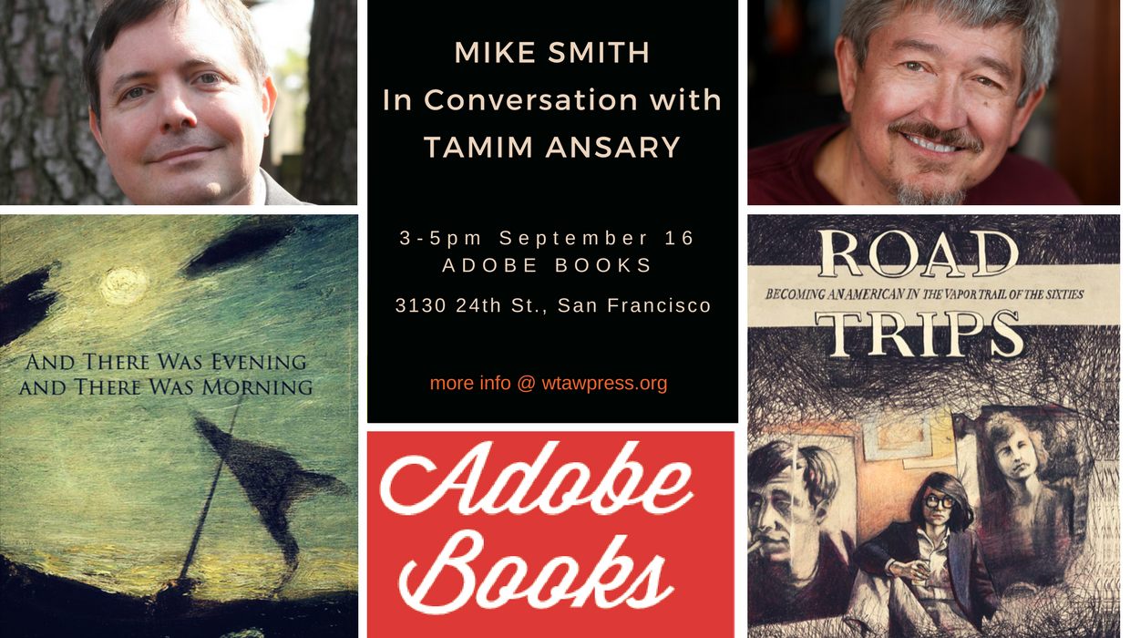 Mike Smith with Tamim Ansary at Adobe Books September 16 2017.png