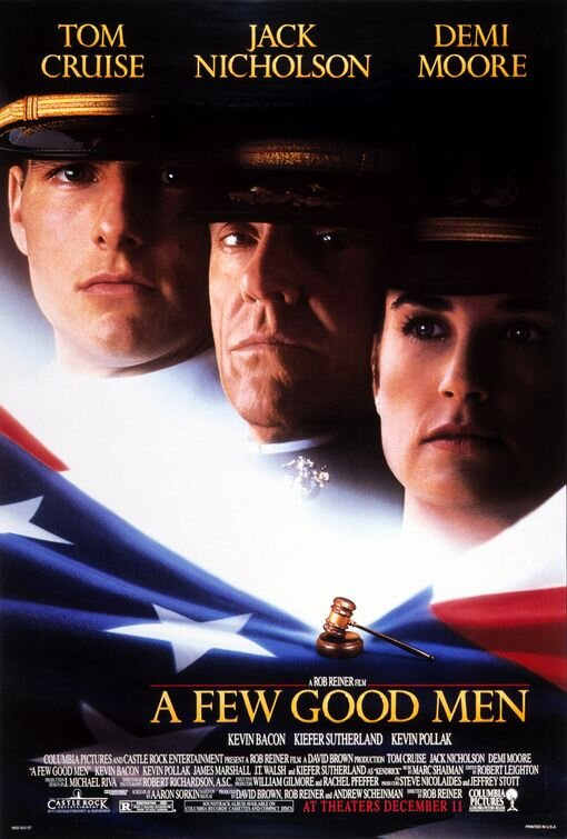 "A Few Good Men - I think this movie is the reason many attorneys keep baseball bats in their offices. It is certainly one of the movies that is quoted in our office on a regular basis. ""[We] want the TRUTH!"""