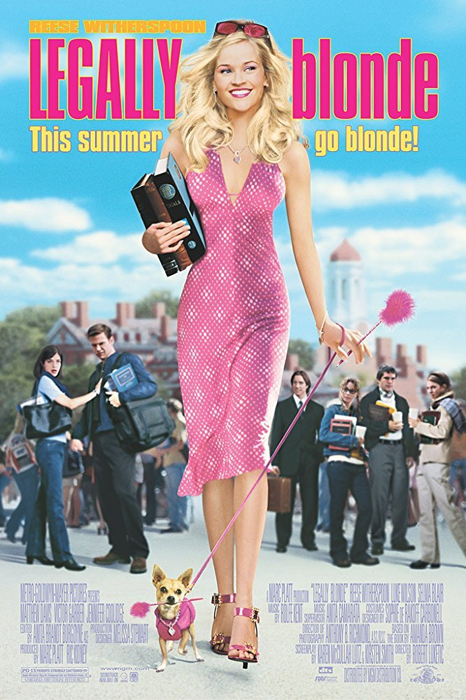 "Legally Blonde - ""What, like it's hard?"" Elle Woods is treated by many people in her law school class and the firm where she's interning as dumb because of her clothes, makeup, and hair. She proves them all wrong when that knowledge helps her save her client and allows her to take down her jerk of a boss."