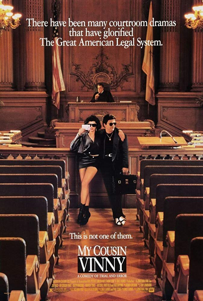 My Cousin Vinny - Another underdog saves the day story. And a movie that may get quoted in our office more than is really necessary.