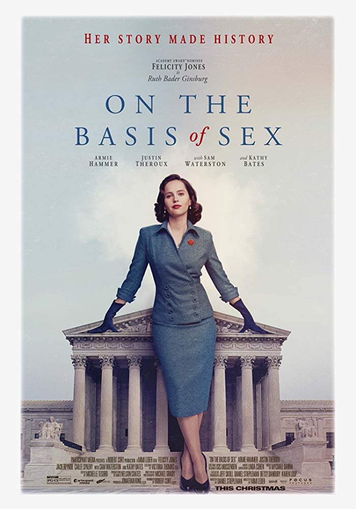 On the Basis of Sex - Notorious RBG before she was notorious. This movie is the story of Ruth Bader Ginsburg as one of the few women at Harvard's law school and how she started her career as a fearless champion for the rights of others.