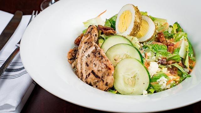 ~ The Thomas Edison ~ With our romaine and spring mix, topped with roasted red peppers, pecan crusted fried cheese medallions, and our house vinaigrette, this salad will leave you feeling as fresh as its ingredients.