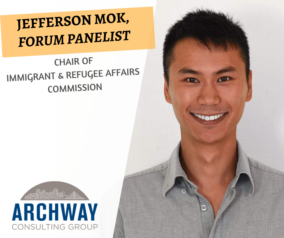 Jefferson   Mok  brings over ten years of non-profit and non-governmental organization experience as an international aid worker, immigration rights advocate, journalist, radio host, and photographer. He emigrated from Hong Kong to the U.S. when he was seven. Jefferson strives to apply his diverse skills and experiences to elevate voices and projects that can advance social change. He is especially passionate about facilitation methods that can enhance cooperation across borders, lines, and differences.  Jefferson holds Bachelor's degrees in Philosophy and in French from Grinnell College in Iowa and Master's degrees in International Affairs and in Journalism from Columbia University in New York. He currently serves as Chair of the City of Tacoma's Commission on Immigrant and Refugee Affairs, to which he offers his perspectives from living and working in parts of Europe, Africa, and Asia
