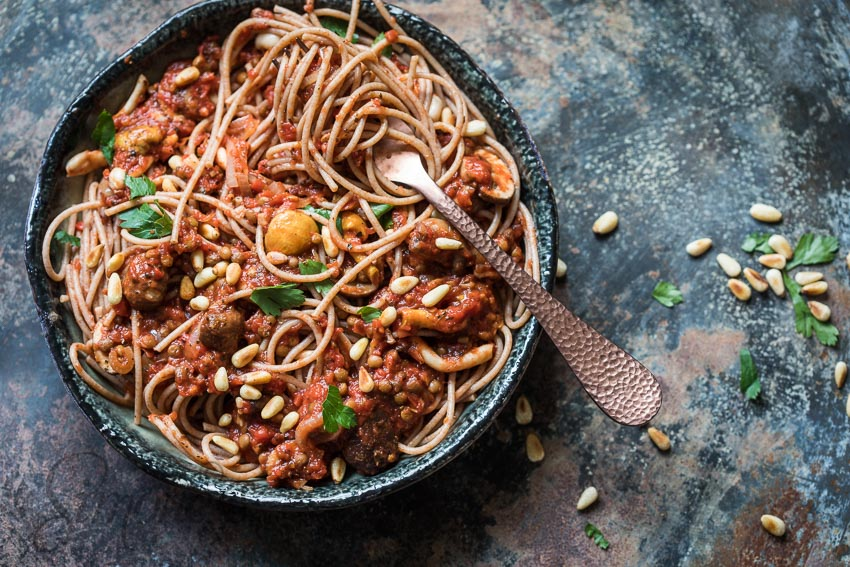 Instead of the main part of your dish being pasta