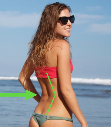your lower back should not have a hinge in it. everrrrr. Hinging = hiding kyphosis