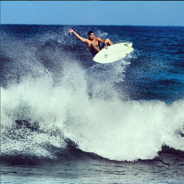 """Derek Young Surfer / Waterman,North Shore O'ahu   """"The first thing I do before paddling out is cream up my armpits, so that after an hour or two session my armpits aren't torn up by a rash. It's very necessary to do this if I want to surf again that day or even the day after, so that I'm not hurting. Plus, I can wear deodorant after--other people thank me for that."""""""