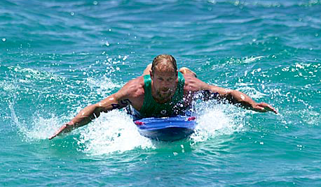 """Brendan Shea 25 Year Veteran North Shore Lifeguard / Surfer / Kiter / Waterman, North Shore O'ahu   """"Working as a lifeguard on the North Shore is a very demanding job. We are in and out of the water all the time in varying conditions. Training on a variety of different equipment on a regular basis can lead to chafing or a wetsuit rash.Red Muze provides soothing comfort and relief and is safe for the environment. A must for the serious water person."""""""