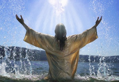 """Mark 1:9-11   """"And it came to pass in those days, that Jesus came from Nazareth of Galilee, and was baptized of John in Jordan. And straightway coming up out of the water, he saw the heavens opened, and the Spirit like a dove descending upon him: And there came a voice from heaven, saying, Thou art my beloved Son, in whom I am well pleased."""""""