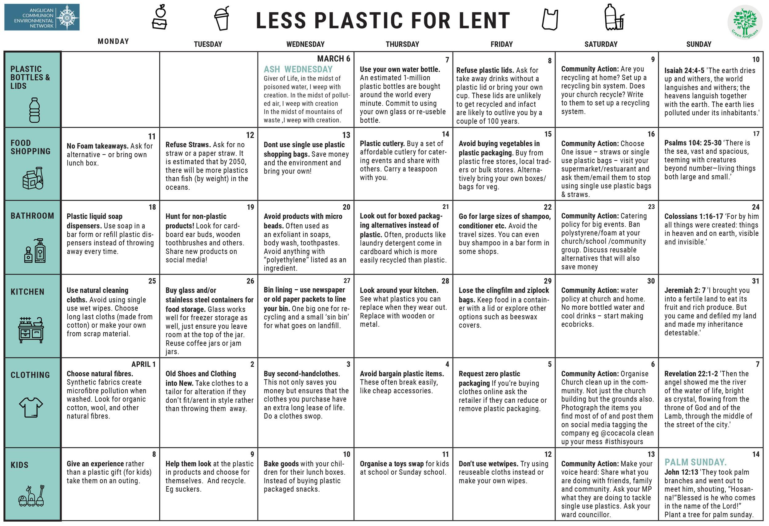 Less Plastic for Lent Calendar.jpg