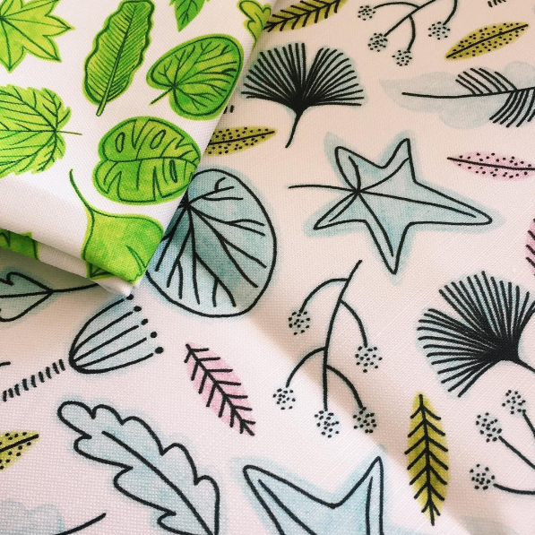 Buy fabrics with my surface pattern designs on Spoonflower!