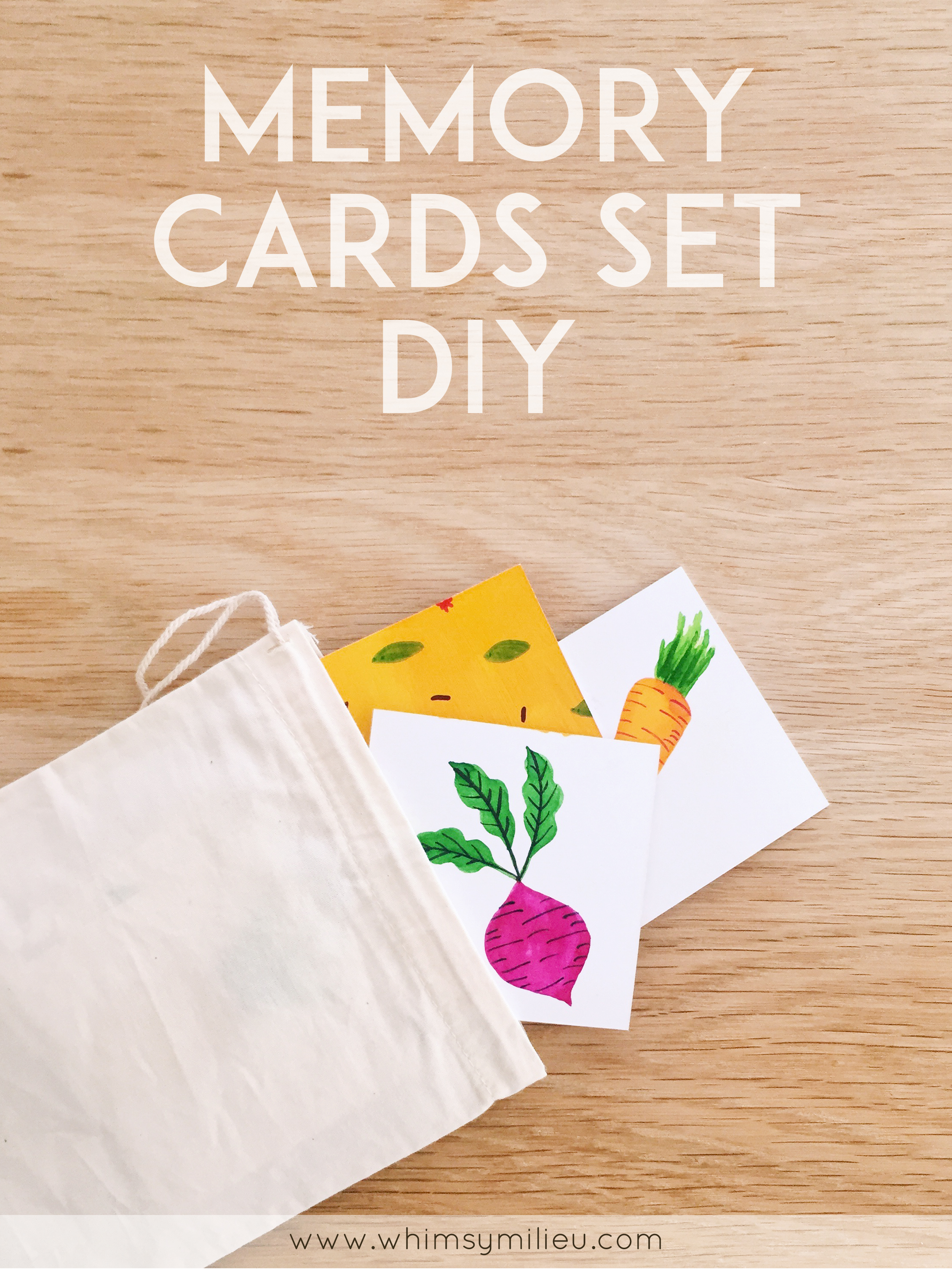 Memory Card Game Set DIY
