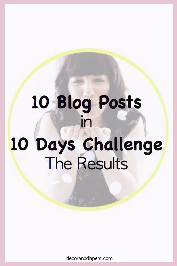 """10 in 10: The Results of """"My 10 Blog Posts in 10 Days Challenge"""""""
