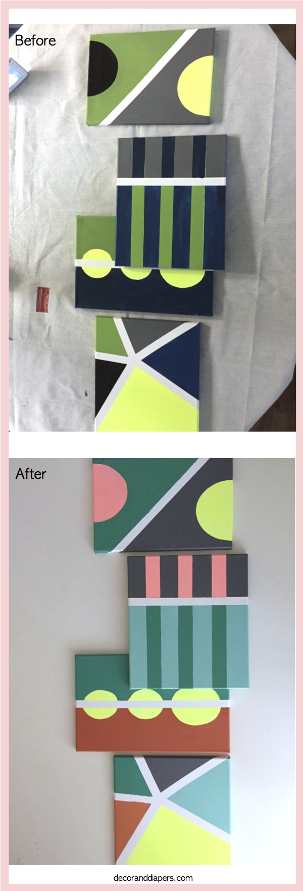 DIY Painted Canvas Artwork- Part 2